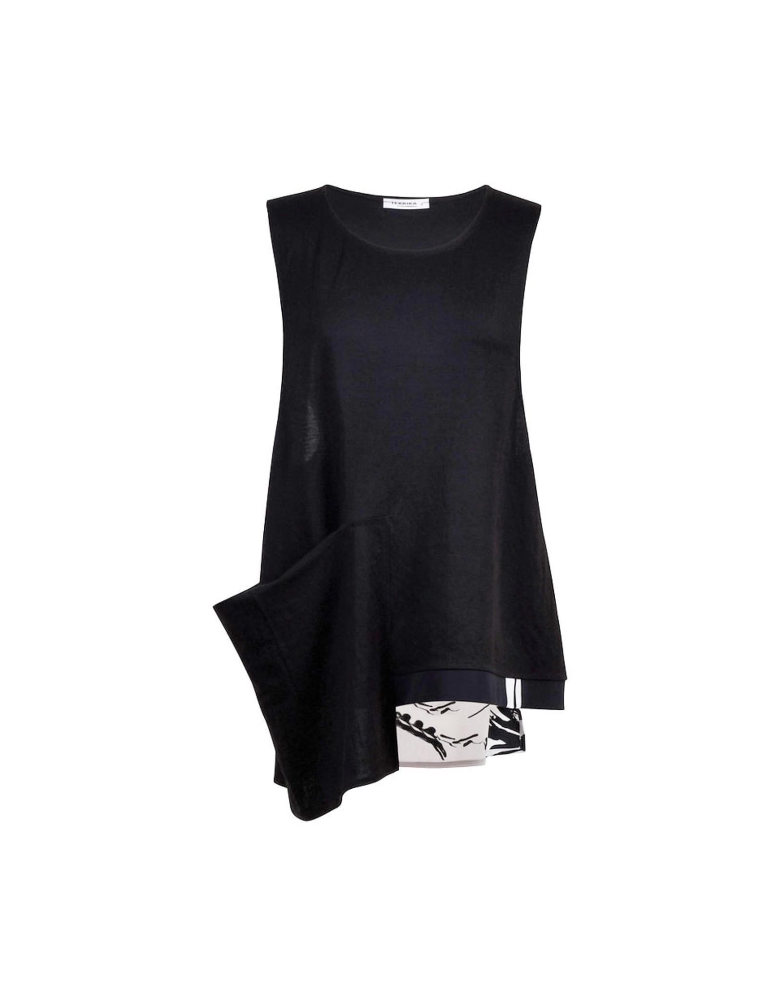 Alembika Tekbika Asymmetrical Vest-Black