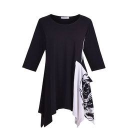 Alembika Tekbika Asymmetrical Tunic-Black
