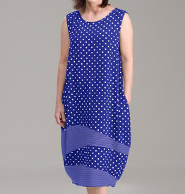 Fat Hat Fat Hat Spiral Dress - Sky Dot