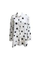 Xiaoyan Xiaoyan Black Dot Shirt-White