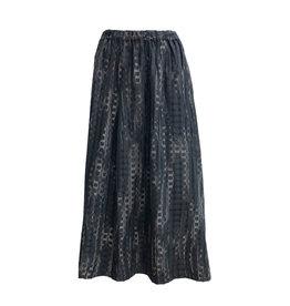 Xiaoyan Xiaoyan Check Skirt-Grey