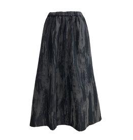 Xiaoyan Xiaoyan Stripe Skirt-Grey