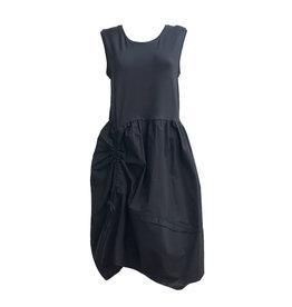 Crea Concept Crea Concept Side Gather Dress-Black