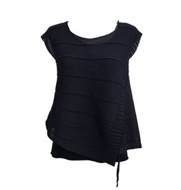Crea Concept Crea Concept Side Gathered Tank-Black