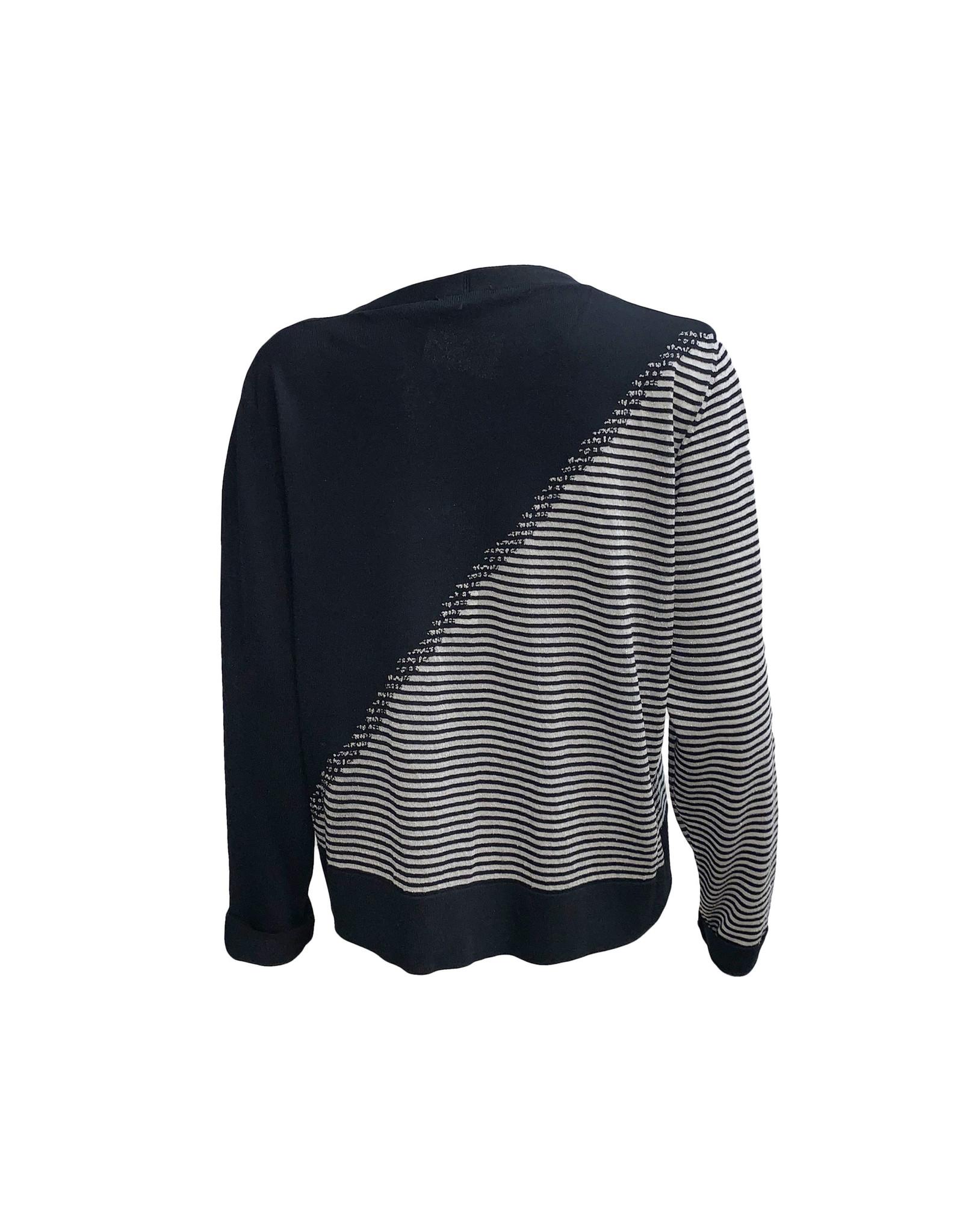Crea Concept Crea Concept Angle Cardigan-Black/White