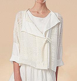 Crea Concept Crea Concept Tie Cardigan-Cream