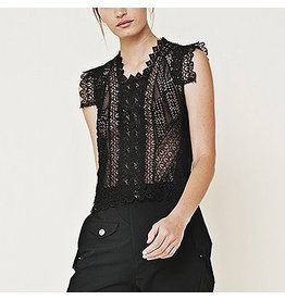 HIGH HIGH Finesse Lace Top - Black