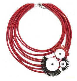 Christina Brampti Christina Brampti Multi Strand Fringe Discs Necklace
