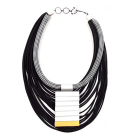 Christina Brampti Christina Brampti Check Cord Medallion Necklace