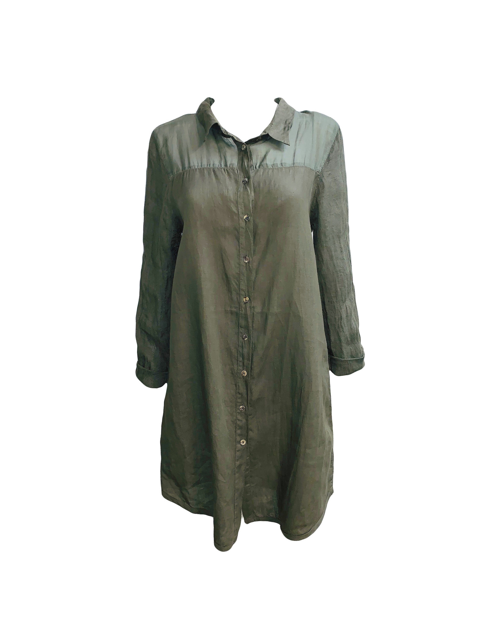 Banana Blue Banana Blue Long Shirt-Khaki