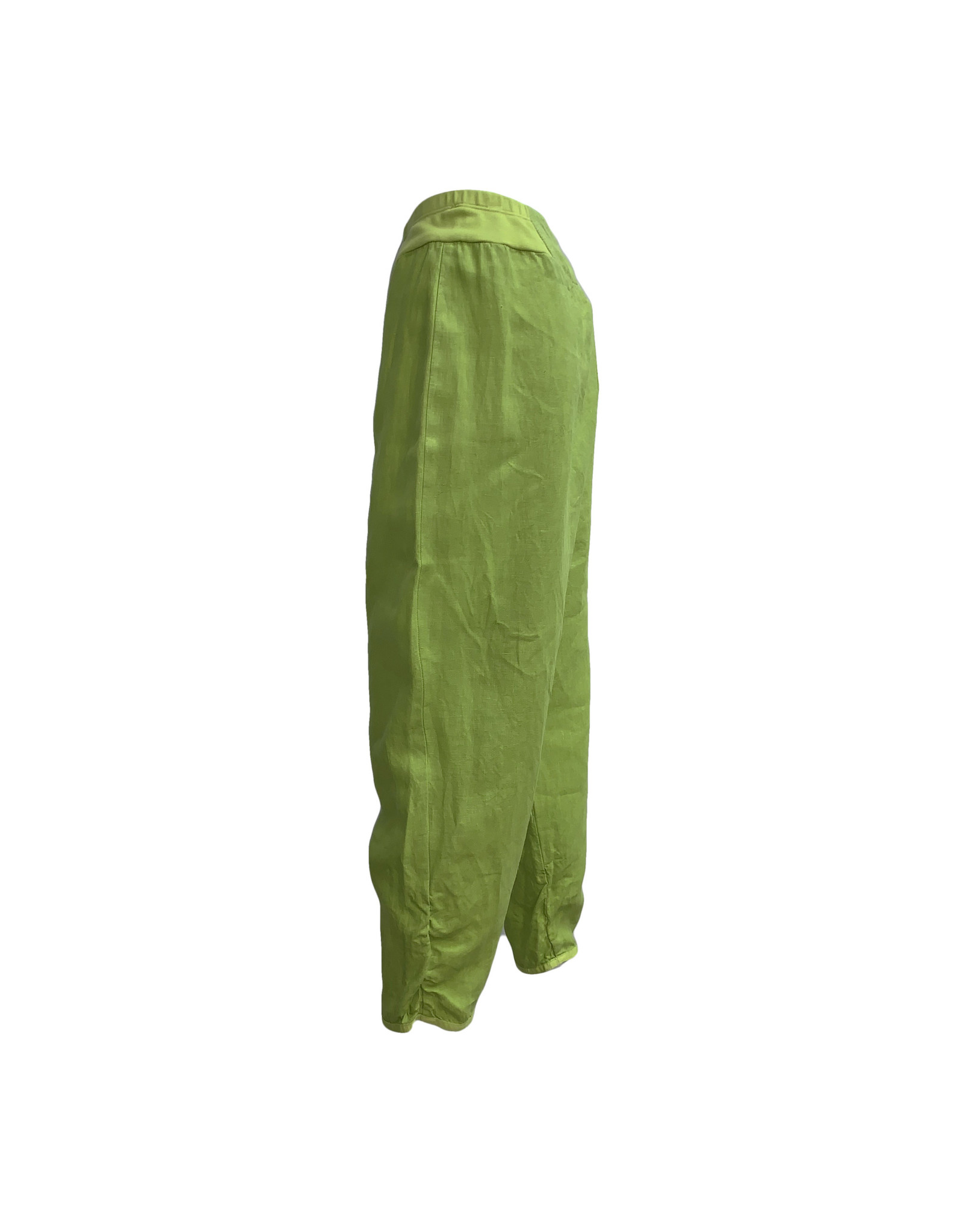 Banana Blue Banana Scrunch Bottom Pant-Chartreuse