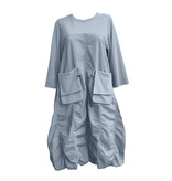Yoshi Yoshi Yoshi Yoshi Long Sleeve Dress-Blue