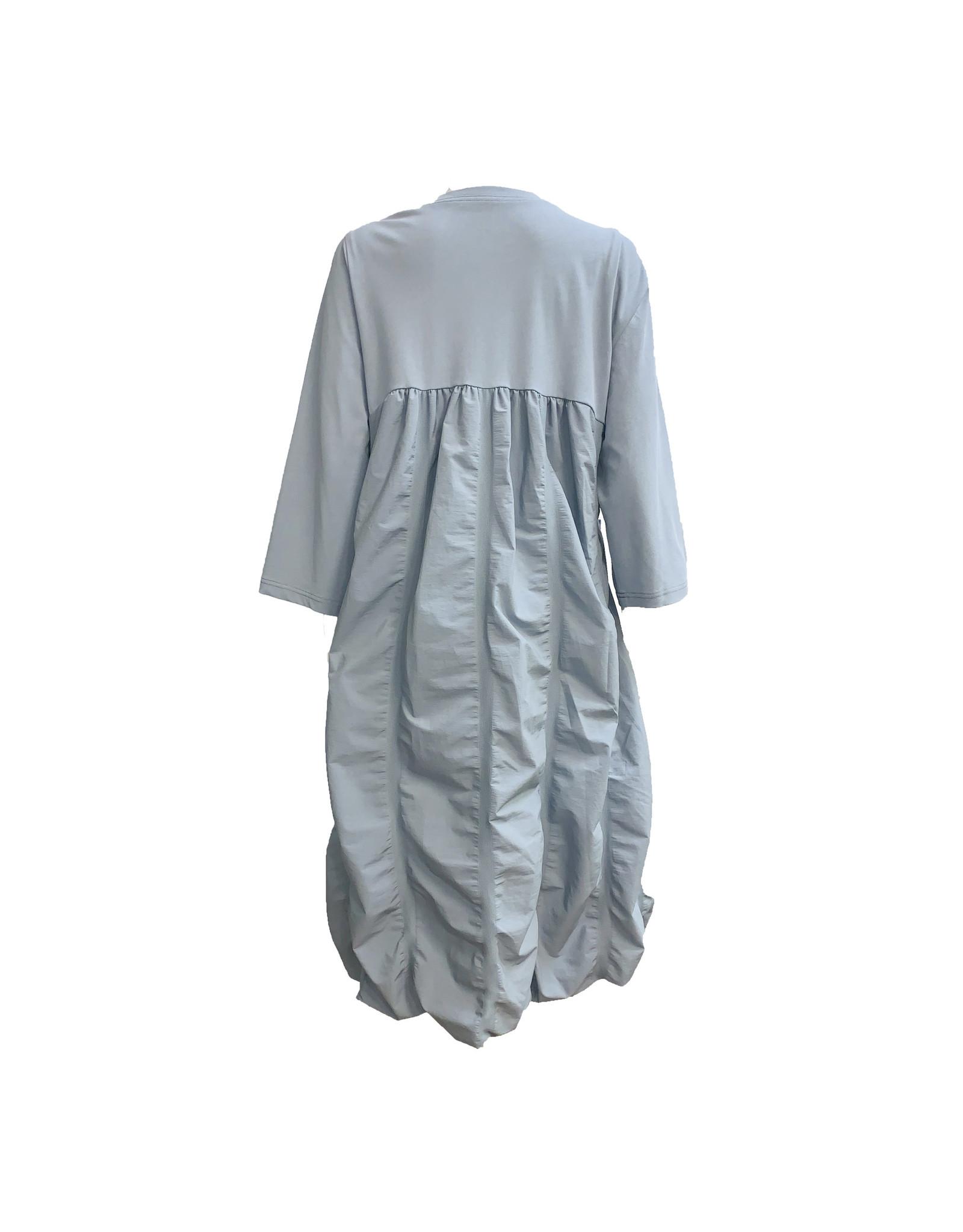 Yoshi Yoshi Yoshi Yoshi Long Sleeve Dress-Blue
