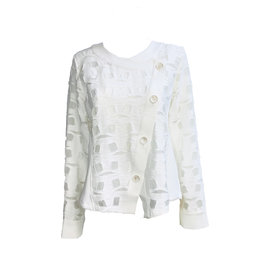 Yoshi Yoshi Yoshi Yoshi Button Cardigan-Cream