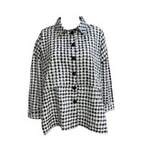 Dress To Kill Dress to Kill Dotted Banded Shirt - Black Taupe