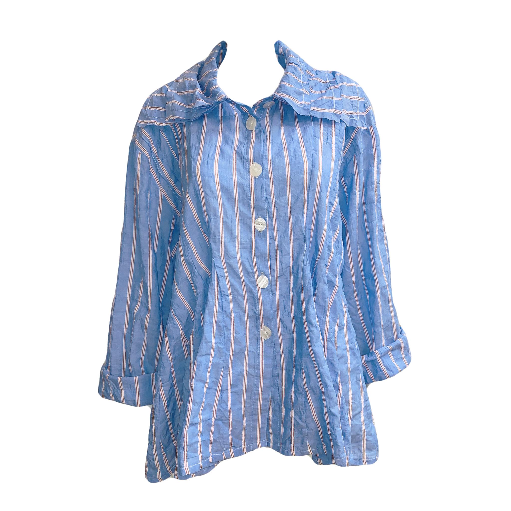 Dress To Kill Dress to Kill Triple Collar Top - Blue Coral