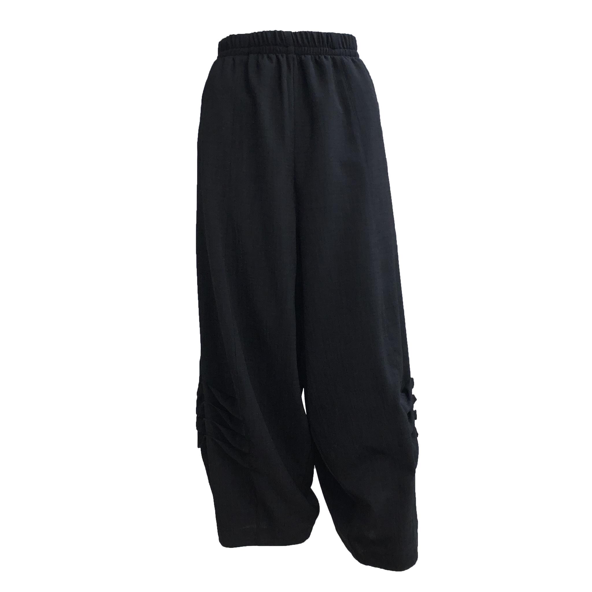 Dress To Kill Dress to Kill Multi Folded Pants - Black