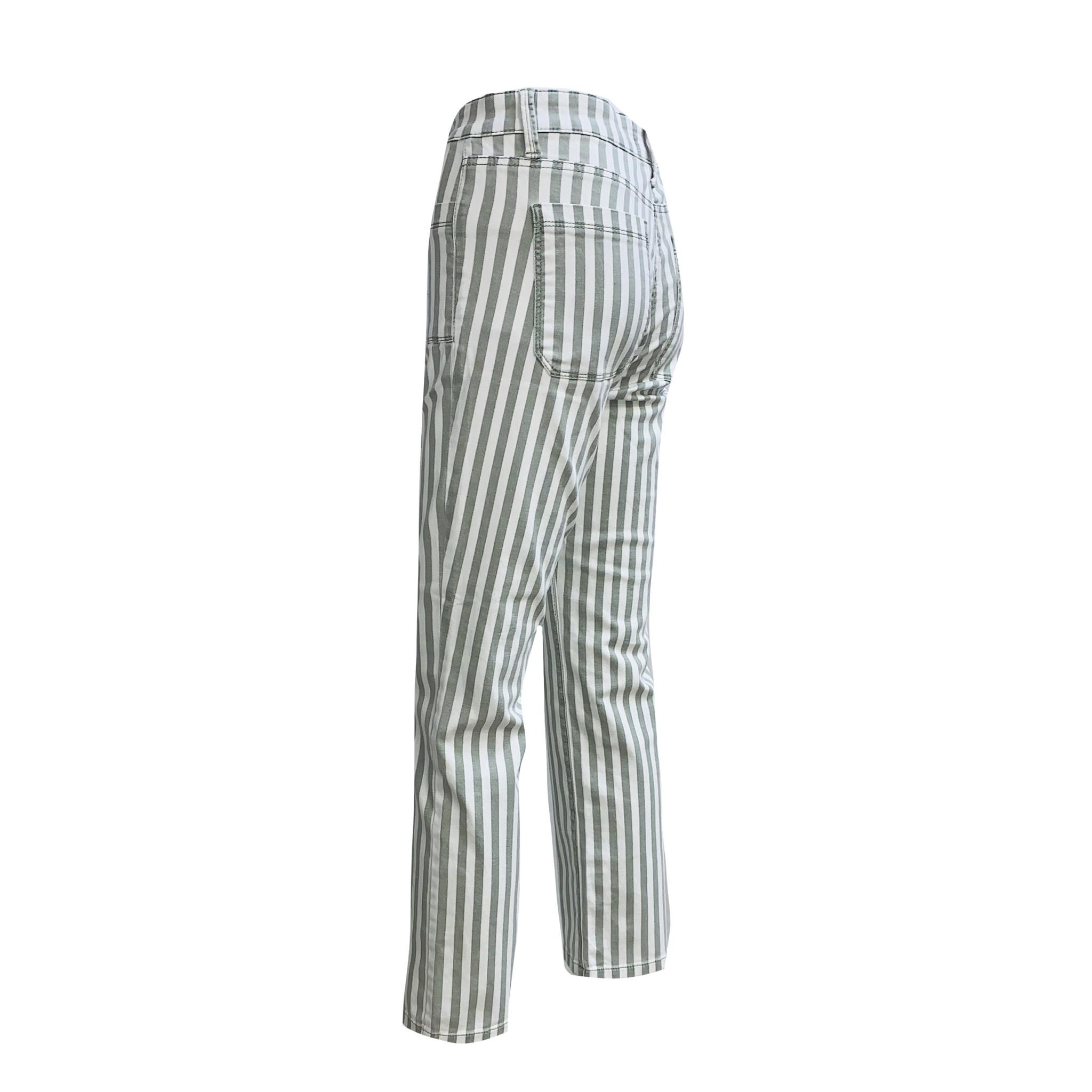Cambio Cambio Tess Straight Jeans - Stripe Print