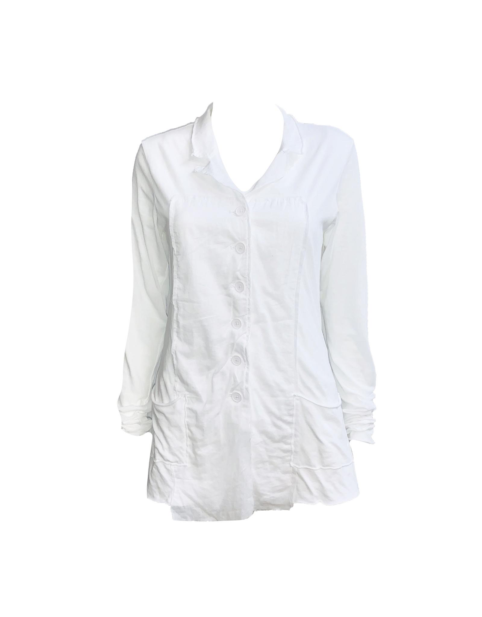 Studio Rundholz Studio Rundholz Button Front Jacket-White