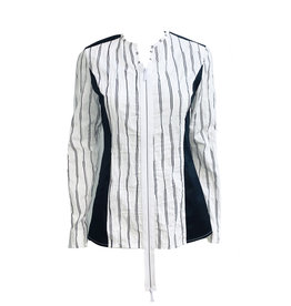 NY77 Design NY77 Zip Stripe Top - White
