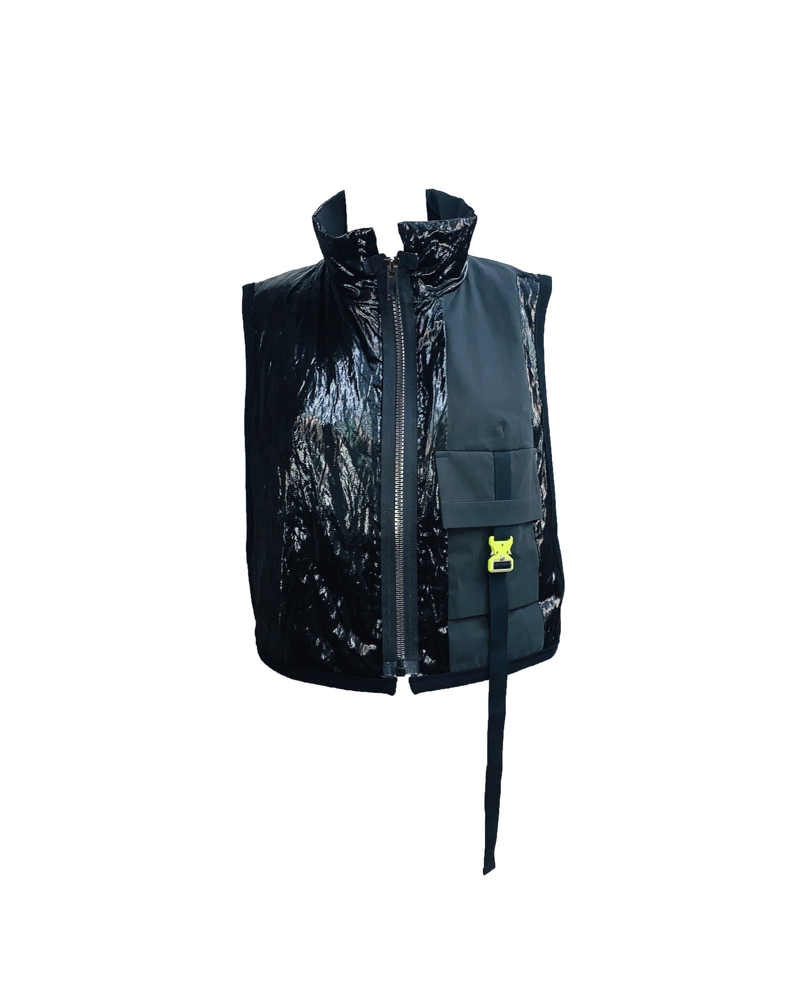 NY77 Design NY77 Zip Buckle Vest - Black