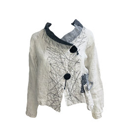 Mara Gibbucci Mara Gibbucci Mixed Print Jacket - Natural