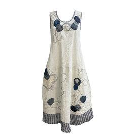 Mara Gibbucci Mara Gibbucci Mixed Print Dress - Natural