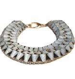 Michelle Lowe-Holder Michelle Lowe-Holder Stone Twist Frame Collier Necklace