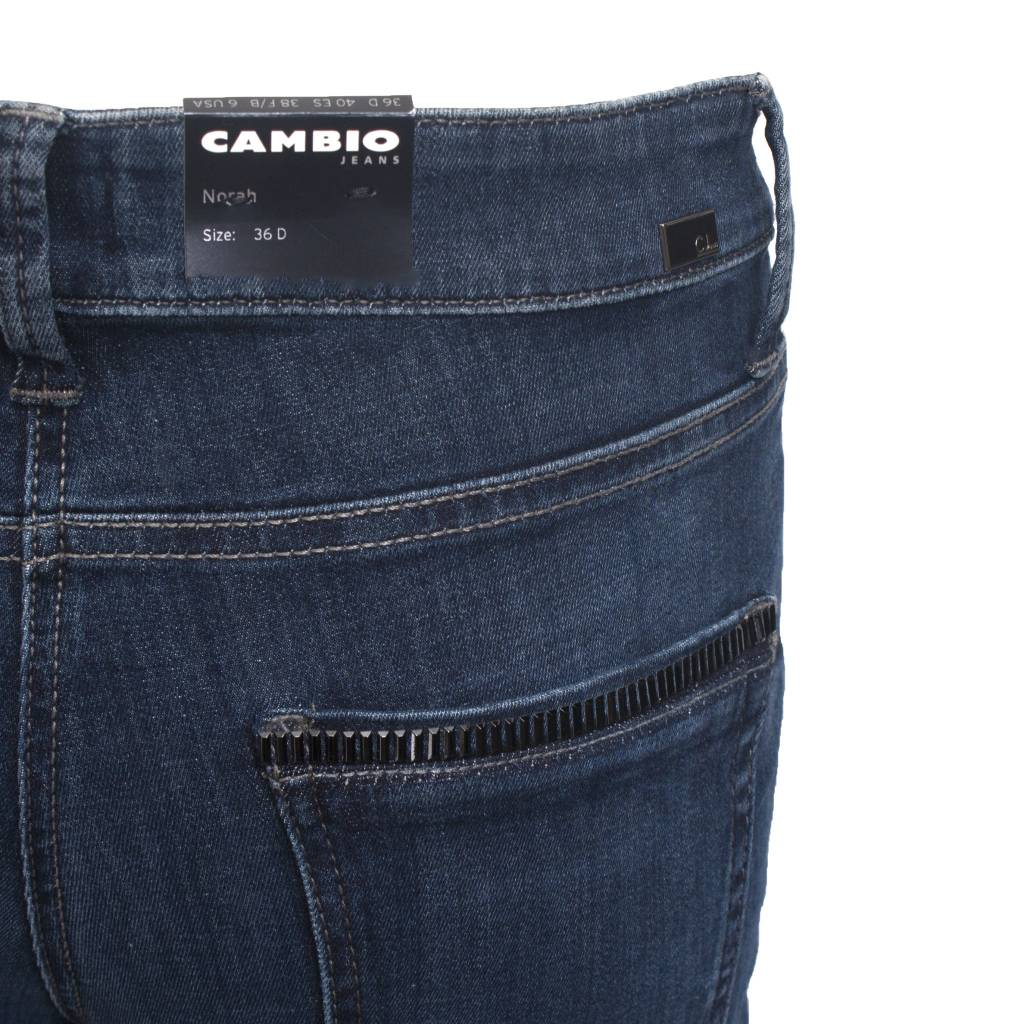 Cambio Cambio Norah Jeans - Dark Denim w/ Black Accent