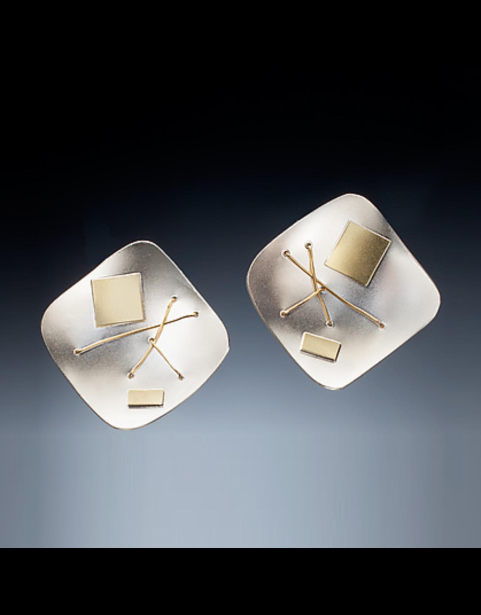 Suzanne Schwartz Jewelry Suzanne Schwartz Interwoven Square Earrings
