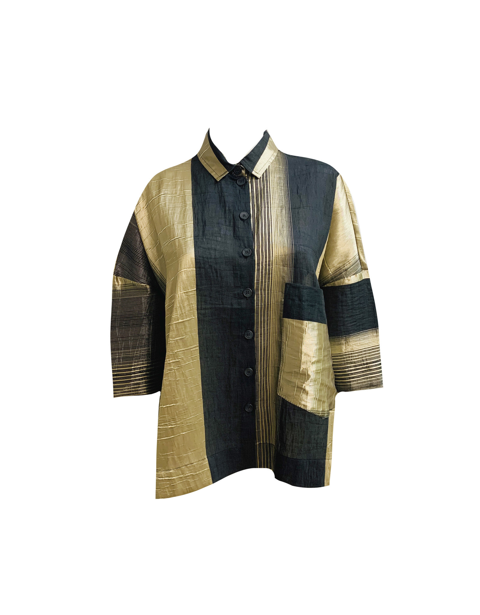 Alembika Alembika Evening Shimmer Top - Gold
