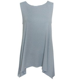Fat Hat Fat Hat Trendy Tank - Blue Stripe