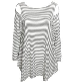 Fat Hat Fat Hat Slice of Life Top - Cream Stripe