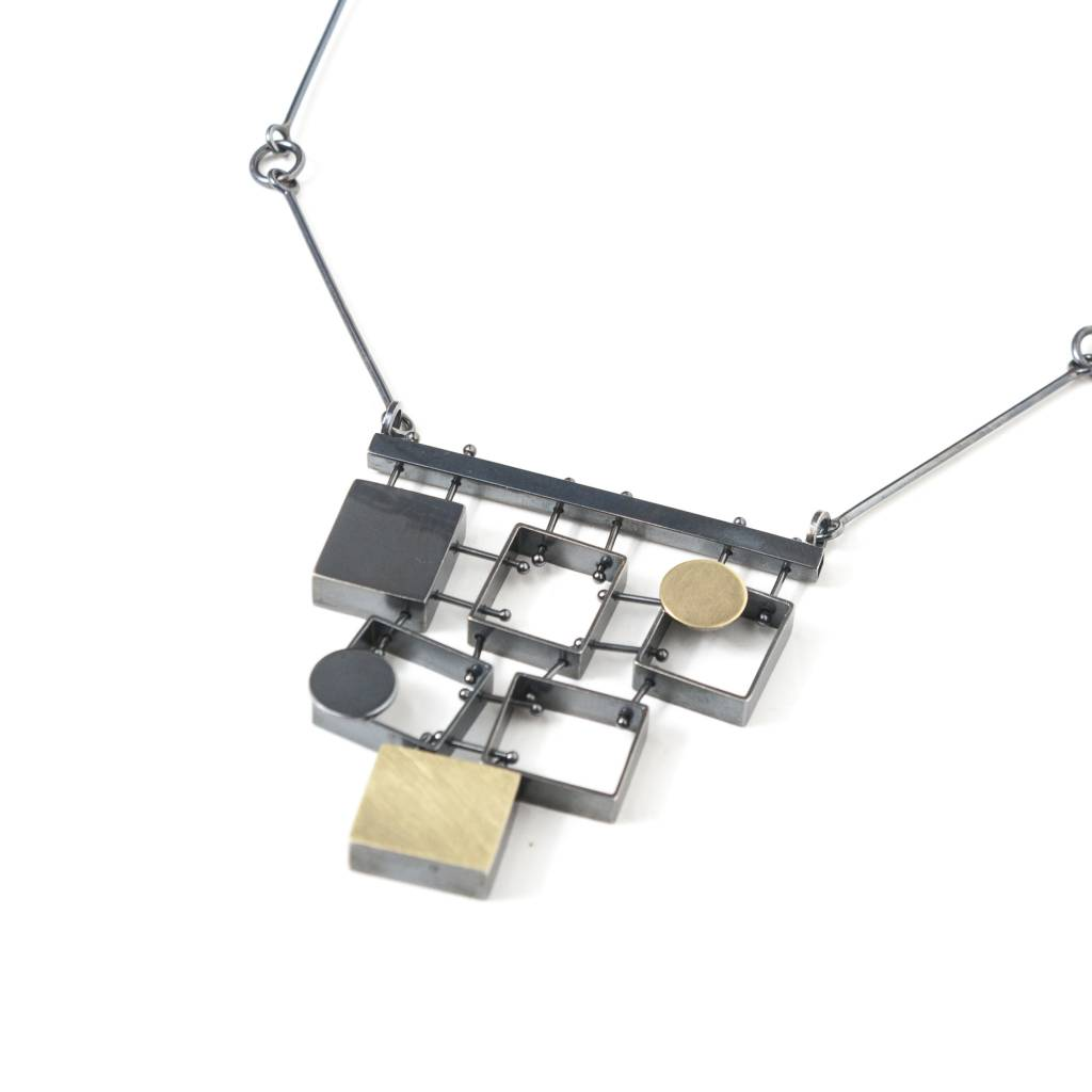 Ashka Dymel Ashka Dymel Stacked Rectangle Necklace