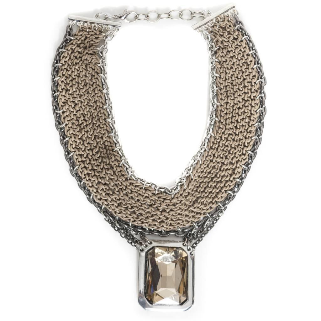 Fahrenheit Fahrenheit Rhine Stone Pendant Necklace
