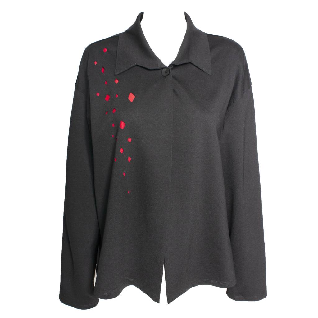 Xiaoyan Xiaoyan Black/Red Cutout Jacket