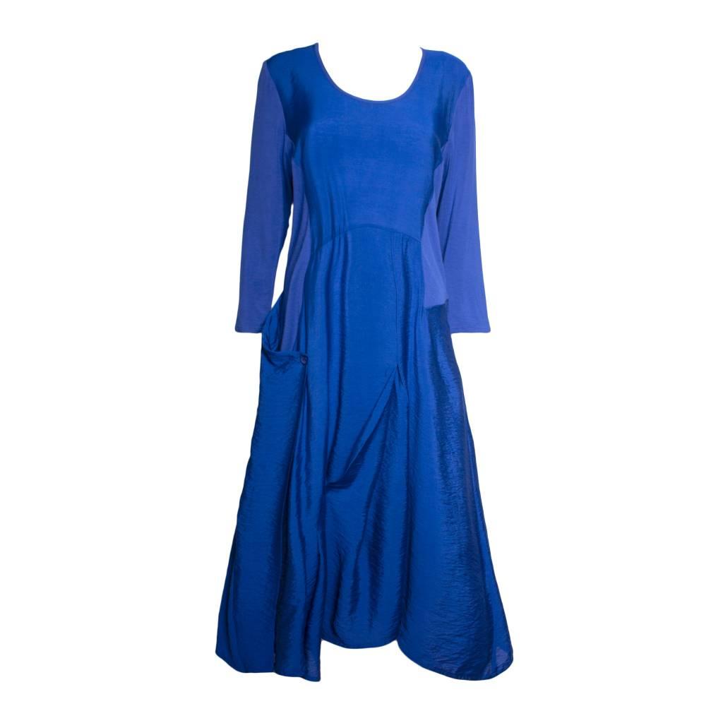 Redwood Court Redwood Court Cobalt Bamboo Silk Dress