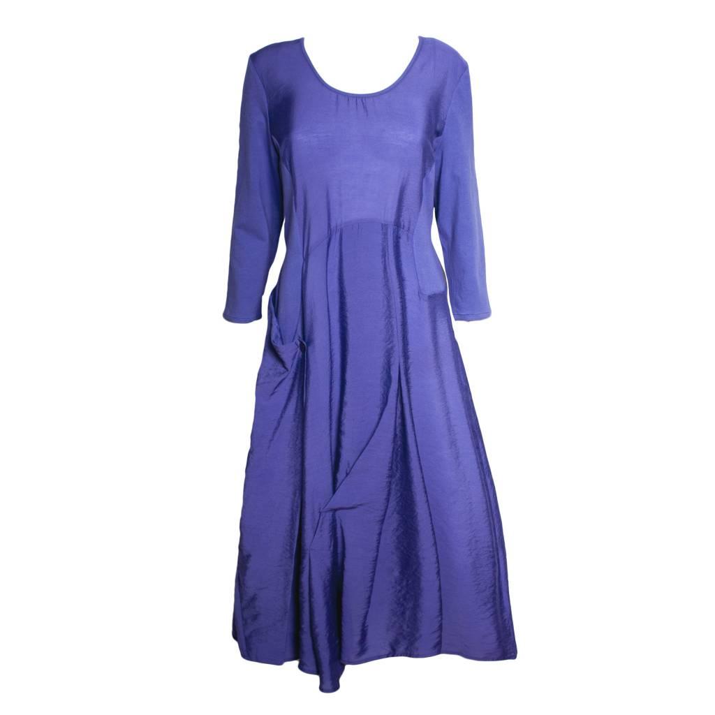 Redwood Court Redwood Court Royal Purple Bamboo Silk Dress