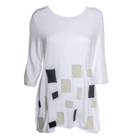 Redwood Court Redwood Court White Patchwork Tunic