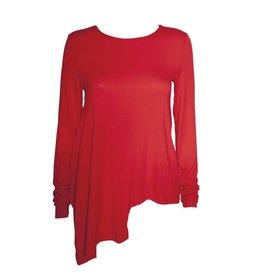 Xenia Xenia Red Arai Knitted Long Sleeve Shirt