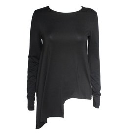 Xenia Xenia Black Arai Knitted Long Sleeve Shirt