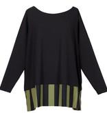 Alembika Alembika Stripe Bottom Top-Black/Olive