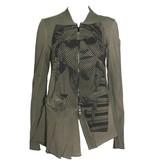 Studio Rundholz Studio Rundholz Pleat Bottom Jacket - Vert Print