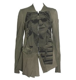 Studio Rundholz Studio Rundholz Pleat Bottom Jacket - Vert Print