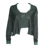 Crea Concept Crea Concept Cardigan with Pin - Green