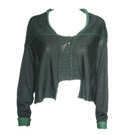 Crea Concept Crea Concept Cardigan with Pin - Green