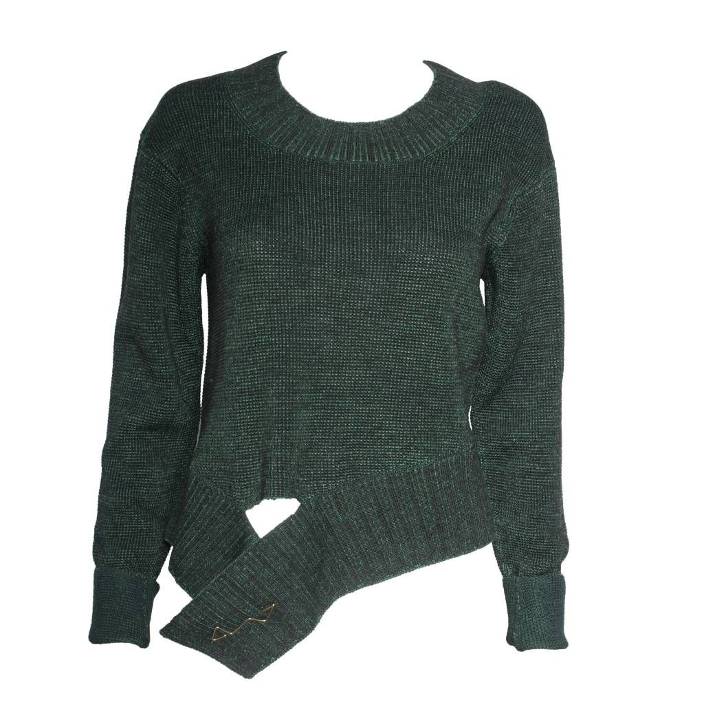 Crea Concept Crea Concept Sweater with Pin - Green