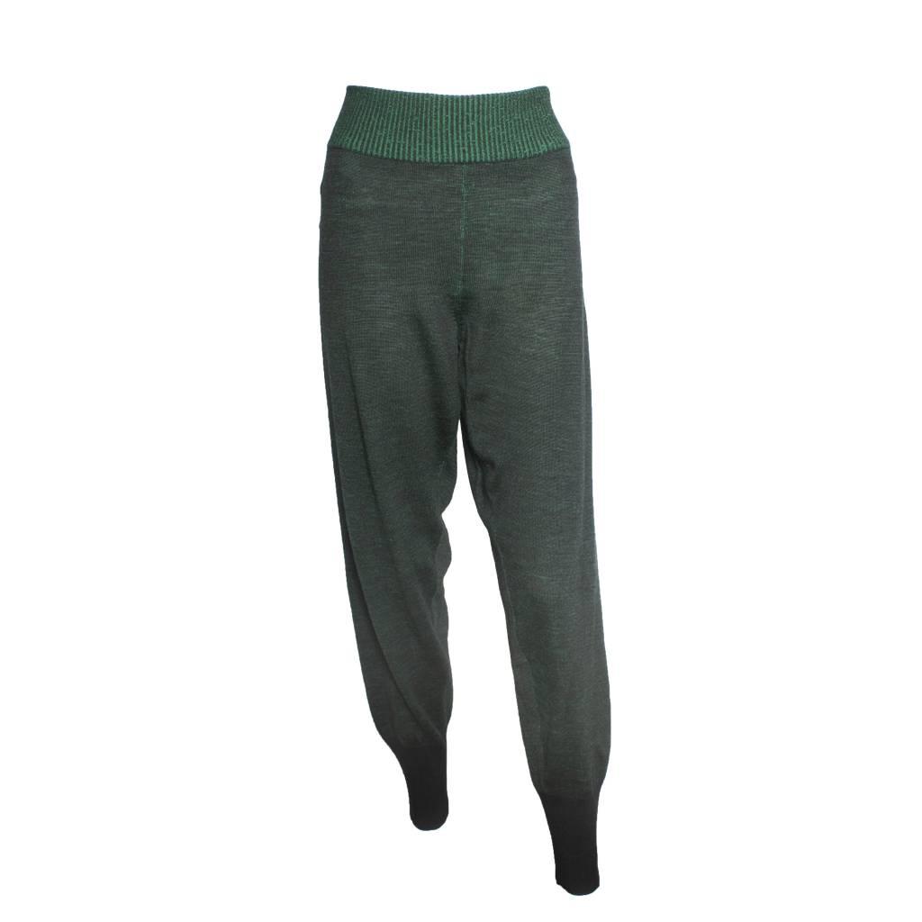 Crea Concept Crea Concept Rib Cuff Pants - Green