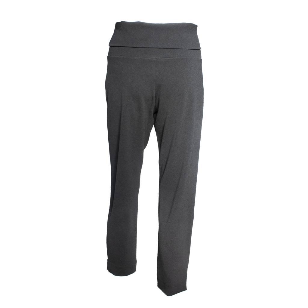Crea Concept Crea Concept Crepe Foldover Pants - Black