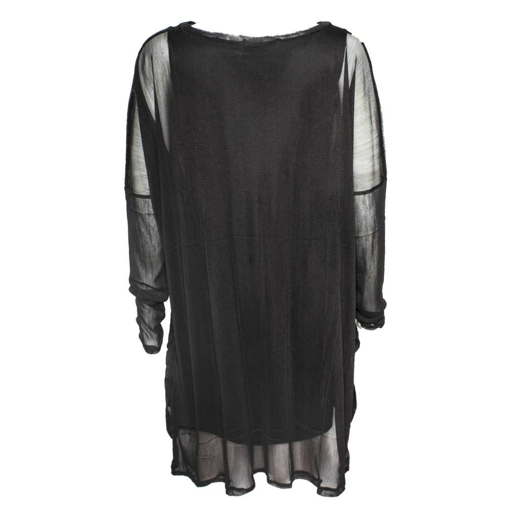 Matthildur Matthildur Silknet Tunic - Black